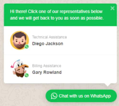 Chat Whatsapp site
