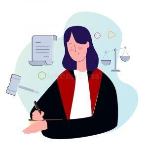 female judge professional lawyer legislation character person career hammer gavel justice equality symbol vector 173548211