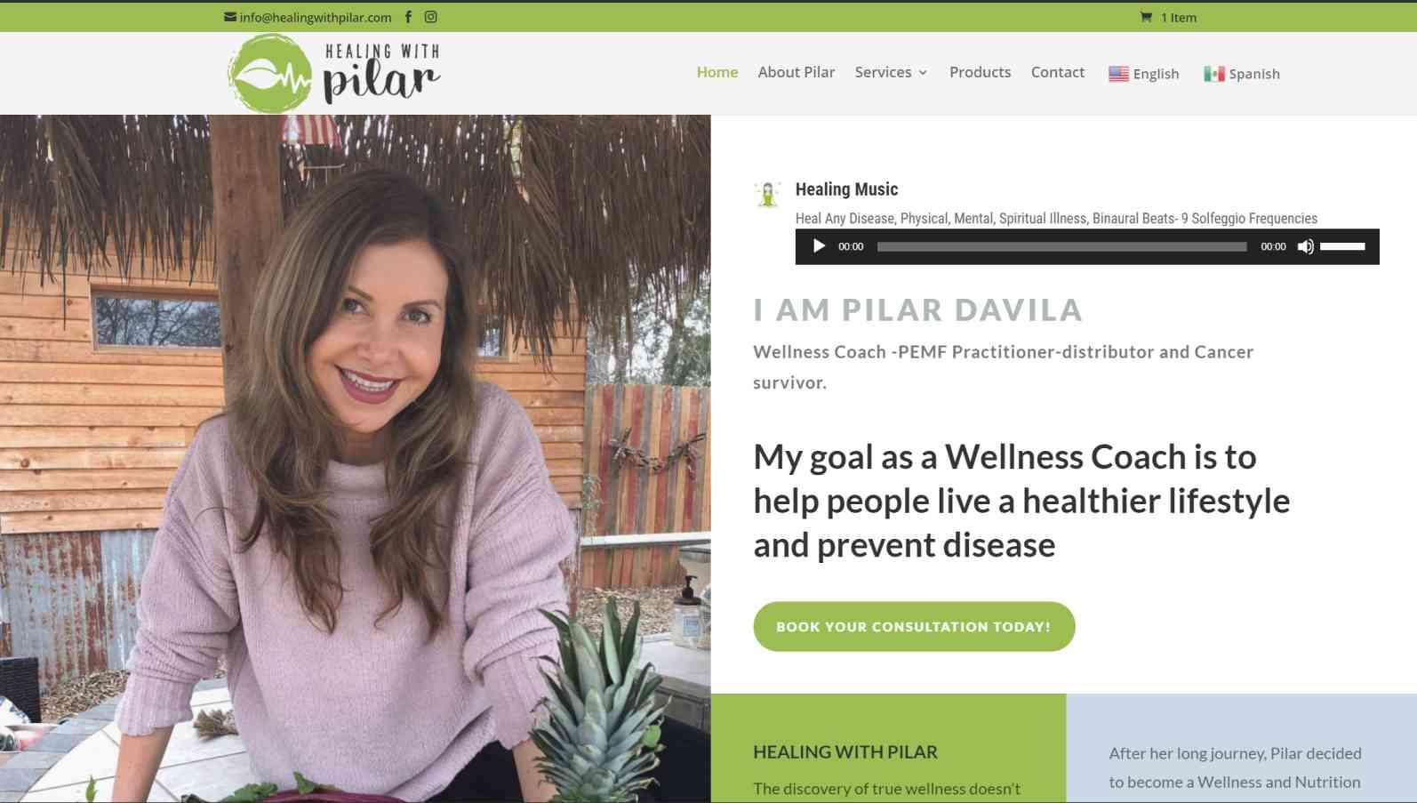 Cliente de diseno web healing with pilar