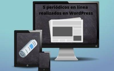 5 periódicos en línea realizados en WordPress