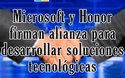 Microsoft y Honor firman alianza para desarrollar soluciones tecnológicas